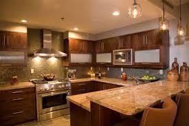 Warm Kitchen W/earth Tones....love The Simple Pendant Lights