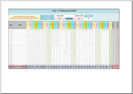 attendance spreadsheet excel free daily attendance sheet for excel 2007 2016