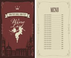 Free Wine List Template Download Download Our Sample Of Free Wine List Template Wine Menu List