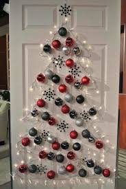 office decoration ideas for christmas. Christmas Decoration Ideas For Office Designed By Tree  With White Lamp And Red Silver Black Baubles Hanging On Wooden Door Office Decoration Ideas For Christmas R