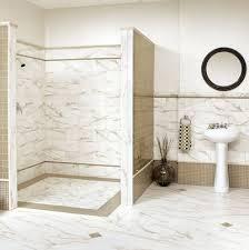 bathroom shower tile white. interior-white-marble-bathroom-tile-wall-connected-by- bathroom shower tile white