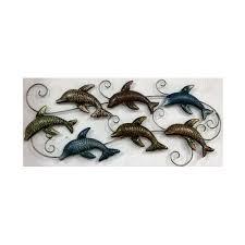 pushpa international metal fish wall