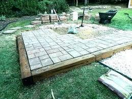 diy paver patio cost backyard stone patio medium size of backyard photo with amusing backyard patio