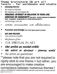 ib art workbook examples page the ib art research workbook  ib art workbook examples page 3 the ib art research workbook student samples