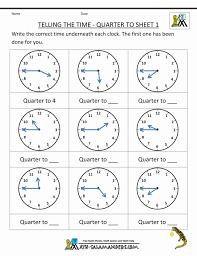 Clock Worksheet Quarter Past And To Maths Worksheets Ks1 Pdf ...