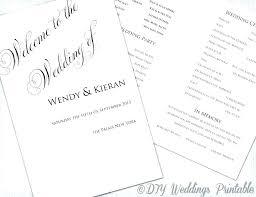 Wedding Ceremony Brochure Catholic Church Wedding Booklet Template Church Booklet