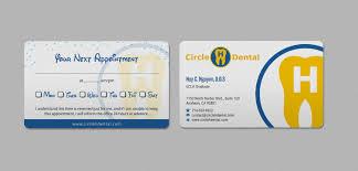 Elegant Playful Dental Business Card Design For Circle H