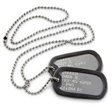 military personalized dog tags stainless steel shiny official gi army usmc usa