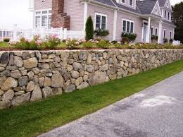 image of cool stone retaining wall