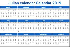 July 27th 2019 Julian Calendar Calendar Template