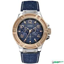 guess men s sport quartz watches jewelry accessories guess men s sport quartz watch blue denim leather strap w0040g6 watches jewelry