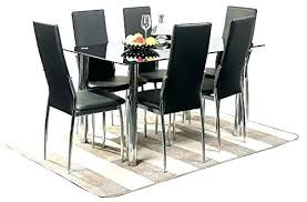 6 person dining table glass top set round for room seats tabl
