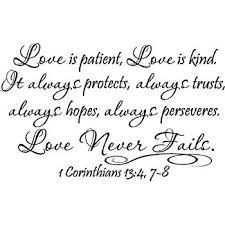 Amazon 40 Love Is Patient Love Is Kind It Always Protects Stunning Love Is Patient Love Is Kind Quote