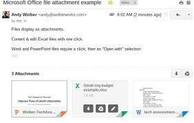 Microsoft Office Example View And Edit Microsoft Office File Attachments Received In