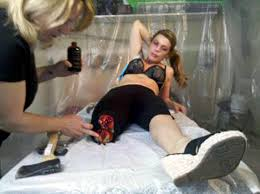 sydney cincinnati special fx makeup artist jodi byrne cutting leg off