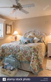 Designer Bedroom Upscale Home, Florida, USA   Stock Image