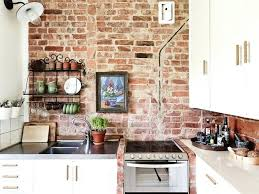 kitchen brick wall showcase beautiful creative exposed brick wall kitchen designs kitchen brick effect wall tiles