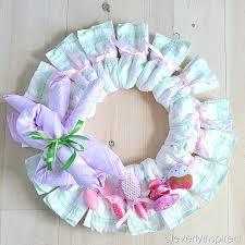 diy baby shower decorations diaper wreath baby shower decoration 2 diy baby shower decorations