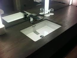 undermount rectangular bathroom sink. Interactive Dark Oak Wooden Bath Vanity With Undermount Rectangular Bathroom Sink For Your Interior Design Along Chrome Faucet Also Wall Mounted Mirror I