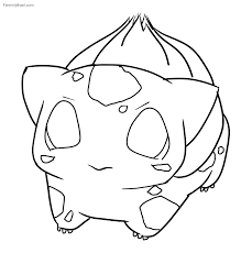 Interesting Inspiration Cute Pokemon Coloring Pages Bulbasaur