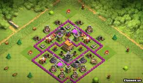 Clash Of Clans Th6 Base Design Town Hall 6 Base Th6 War Farming With Link 7 2019
