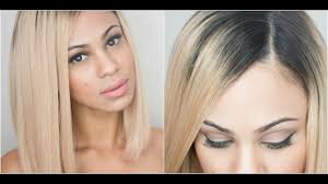 How I Apply My <b>Full</b>-<b>Lace Wigs</b>: Natural Looking Part - YouTube