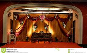 Curtains Wedding Decoration Stage With Colourful Curtains Stock Image Image 38573511