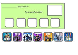 Fortnite Charts Fortnite Reward Chart Printable Reward Charts Chart