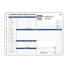 Plumbing Contractor Invoice Forms Work Order Service Invoices Free