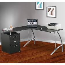 l shaped corner desk. L Shaped Corner Desk With File Cabinet Espresso Best Home Photo Details - These Gallerie We