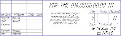 Методические указания Версия не прошла регистрацию в рио вуза  ТП где КПР ТМС курсовой проект по технологии машиностроения 014 порядковый номер задания на квалификационную работу 00 порядковый номер чертежа