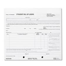 Short Form Bill Of Lading Template Bill Of Lading Short Form 7 X 8 1 2 Four Part Carbonless 250 Forms