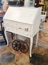 image of antique secretary desk bookcase