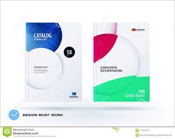 Creative Design Of Business Brochure Set Abstract Horizontal Cover