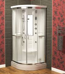 Plain Curved Shower Enclosures Uk Aqualux Florenta Quadrant Steam Throughout Design