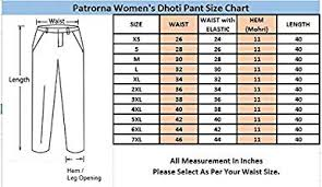 Xs Size Chart Patrorna Womens Girls Dhoti Pant In Black Size Xs 7xl