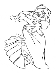 51 Printable Princess Coloring Pages Free Ariel Free Printable