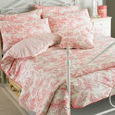 image of pink toile bedding