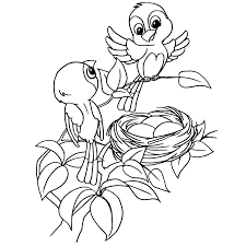 nest coloring page cartoon bird egg in vector stock ilration of concepts letter n pages