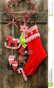 Handmade Christmas Stockings Christmas Stocking And Handmade Toys Hanging Vintage Decoration