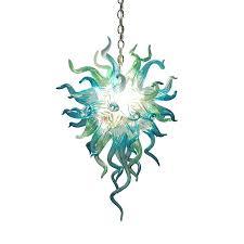 hand blown glass lamp shades uk anemone chandelier chandeliers made in lighting display s minimalist foyer