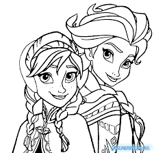 Small Picture Frozen Anna and Elsa Coloring Pages Printable Get Coloring Pages