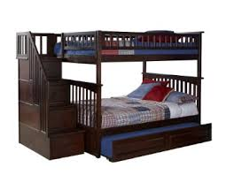 Columbia Staircase Bunk Bed With Trundle Bed Full Over
