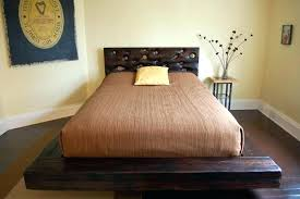 Low Profile Wooden Bed Frame Low Profile Queen Bed Bedroom ...