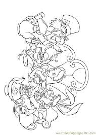 Small Picture Alice In Wonderland 3 Coloring Page Free Alice in Wonderland