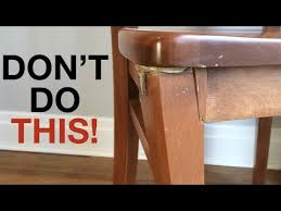 bad furniture repair and how to fix it