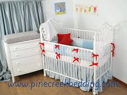 peter rabbit nursery with blue and red crib bedding sets bunny crib bedding