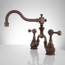 Side Vintage Bridge Kitchen Faucet Lever Handles Oil Rubbed Bronze