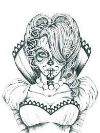 Sugar Skull Printable Coloring Pages Audiczinfo