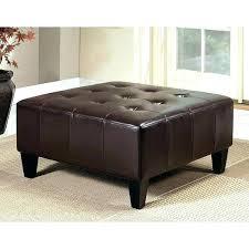 square leather ottoman dark brown square leather ottoman living bi cast square leather ottoman with